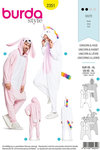 Burda 2351. Unicorn and rabbit.