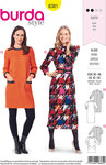 Burda 6381. Retro-dress in 80s style.