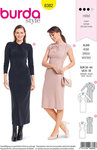 Burda 6382. Close-fitting dresses with and without sleeves.