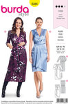 Burda 6384. Festive dresses with wrap effect and waist.