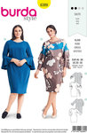 Burda 6389. Dresses with long sleeves.