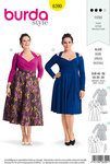 Burda 6390. Retro-dress with skulderstropper.