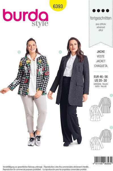 Blazer in lengths, pockets, waist binding
