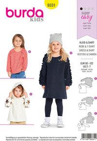 Burda pattern: Blouses, hættetrøjer for children