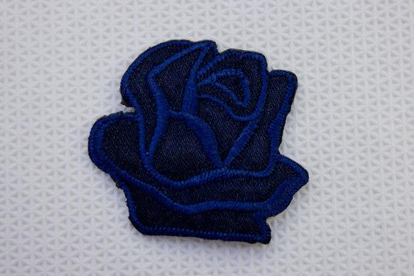 Navy rose patch size 3.5 cm