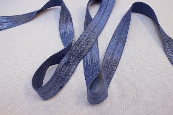 Elastic bias drape in dove-blue