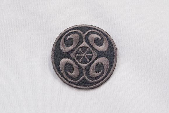 Grey round patch 4cm