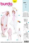 Burda 2351. Unicorn and rabbit.
