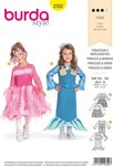 Burda 2352. Princess and havfrue.