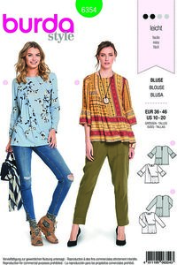 Blouse. Burda 6354.