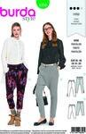 Burda 6358. Snug-fit pants with slim legs.