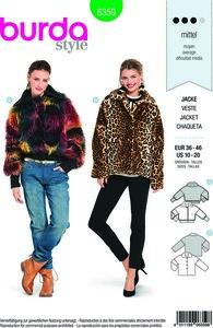 Fur jacket in variations. Burda 6359.