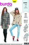 Burda 6360. Parka jacket-coat with garnish and pockets.