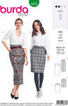 Burda 6370. Mid-knee and long skirt in classic design.