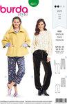 Burda 6371. Pants in pyjamas-stil.