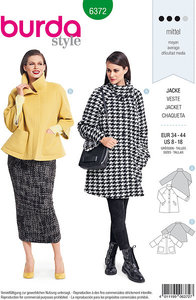 Raglan-jacket in classic design. Burda 6372.