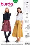 Burda 6375. Wrap skirt with width.