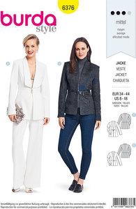 Couture blazer with collar-design. Burda 6376.