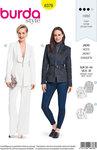 Burda 6376. Couture blazer with collar-design.