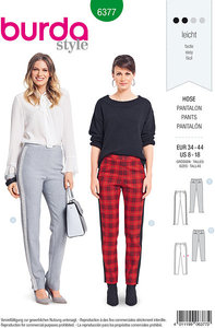 Close-fitting pants. Burda 6377.