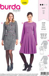 Burda 6385. Dresses, knee-long, with waist and some pockets.