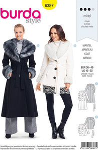 Coats and jackets with pelskraver. Burda 6387.