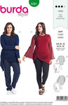 Burda 6391. Blouse with asymmetrical knot-decoration.