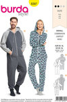 Burda 6397. Overalls for him and her.