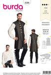 Burda 6399. Robe and shirt, Renaissance design.
