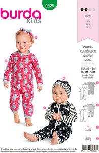 Babytøj, jumpsuit. Burda 9328.