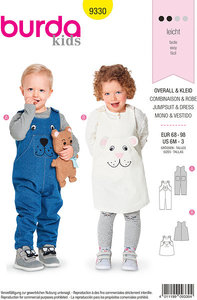 Pants, overalls, dress for children. Burda 9330.