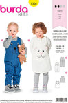 Burda 9330. Pants, overalls, dress for children.