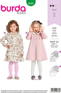 Dresses and blouses for small children. Burda 9332.