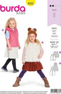 Vests in smarte designs for children. Burda 9333.