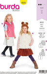 Burda 9333. Vests in smarte designs for children.