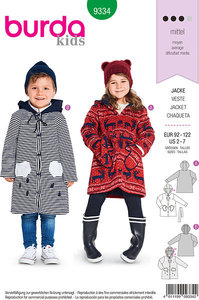 Coats and jackets for children. Burda 9334.