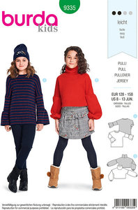 Burda 9335. Blouses and pullovers for big children.