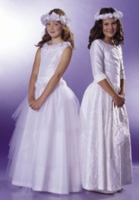 First Communion dress. Burda 9761.