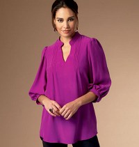 Top with v-cut and small collar. Butterick 5997.