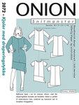 Onion 2072. Dresses with drape piece.