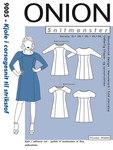 Onion 9005. Dress in corsage design.