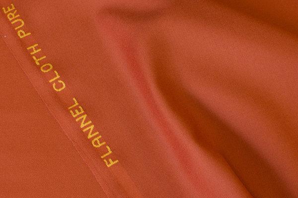 Beautiful italian wool-flannel in cinnamon-colored