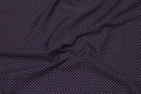 Black cotton-poplin with white mini-dots