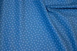 Blue, firm cotton with 5 mm mini-ancors