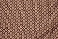 Brown cotton-poplin with small white 1 cm flowers