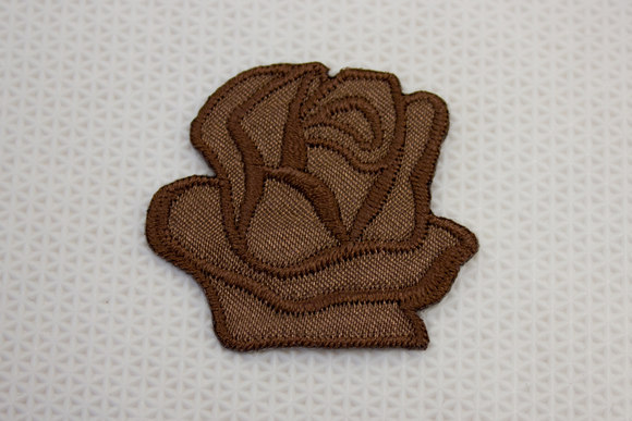 Brown rose patch size 3.5 cm