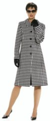 Coat, close-fitting, with section seams.