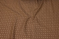 Café latte-colored cotton with white 7 mm stars