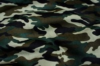 Camouflage-fabric in green and black colors