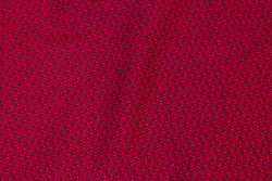 Cherry-red cotton with small leaf-pattern